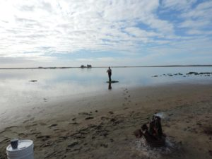 """Happy camper Colin at """"All Alone"""" fishing for Mulloway!"""