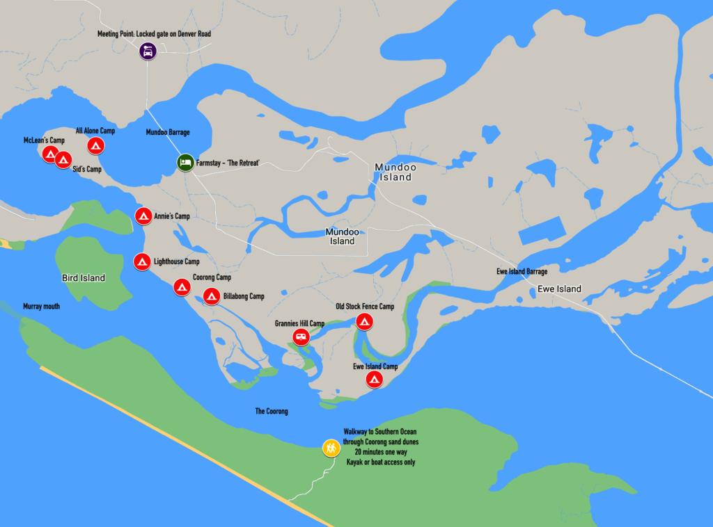 Mundoo Island Station Camp Sites